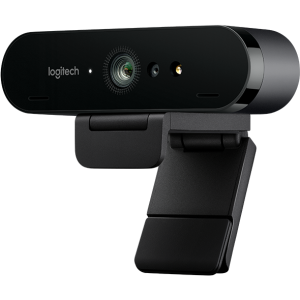 Веб камера Logitech BRIO 4K Pro, Ultra HD, 4096x2160, 90-30fps, RightLight 3, HDR, 90°, 5x Zoom, 2xM...