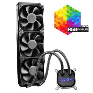 Водяное охлаждение EVGA CLC 360mm All-In-One RGB LED CPU Liquid Cooler 400-HY-CL36-V1, 3x FX13 120mm...