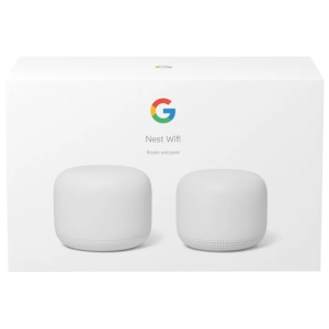Роутер Google Nest Wifi Router and Point, Mesh Wi-Fi AC2200 (802.11ac, 1200 Mb/s (Point), 2200 Mb/s...