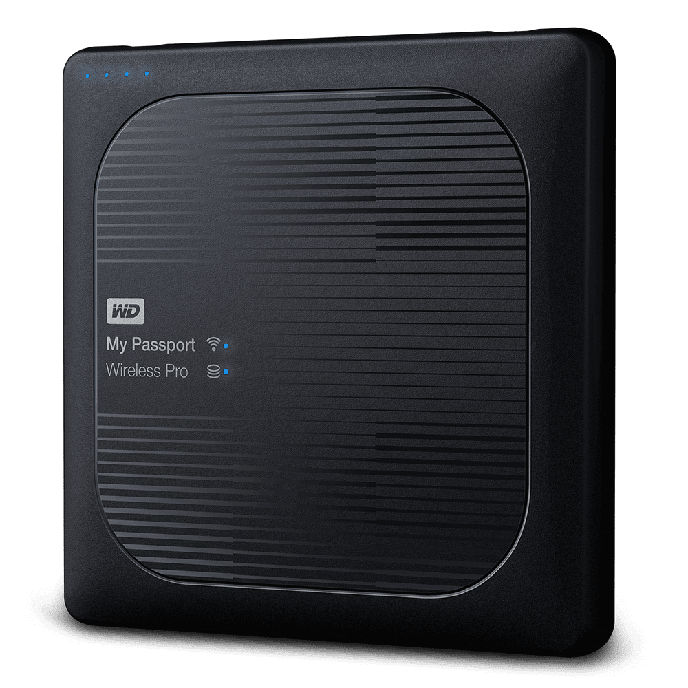 Внешний жесткий диск HDD 2TB WD My Passport Wireless Pro WDBP2P0020BBK-NESN, USB 3.0/Wi-Fi, Card Rea...