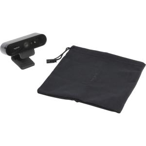 Веб камера Logitech BRIO 4K Pro, Ultra HD, 4096x2160, 90-30fps, RightLight 3, HDR, 90°, 5x Zoom, 2xM...