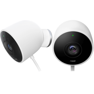 Камера видеонаблюдения Google Nest Cam Outdoor Security Camera, 2-Pack, FHD, 1920x1080, 30fps, 130°,...
