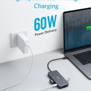 USB-хаб Anker USB-C Hub PowerExpand+ 7-in-1 A83520A1 1xUSB Type-C/Power Delivery, 2xUSB 3.0 (5 Gbps)...