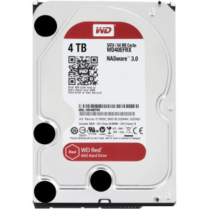 Жесткий диск HDD 4TB WD Red NAS WD40EFRX, 64MB, 5400RPM, SATA3 6.0Gb/s, 3.5""