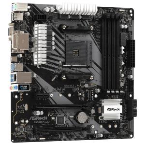 Мат.плата Asrock B450M PRO4-F, AMD AM4, AMD B450, 4xDDR4, 1 PCIe 3.0 x16, 1 PCIe 2.0 x16, 1 PCIe 2.0...