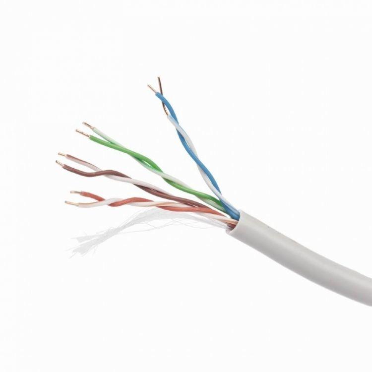 Кабель Cablexpert, UTP5e, 4 пары, 0.48 мм, CCA, однож., 305 м, серый, UPC-5004E-SOL