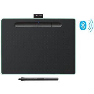 Цифровой графический планшет Wacom Intuos Medium CTL6100WLE-N, A5, USB, Bluetooth, 4096 Pressure Lev...