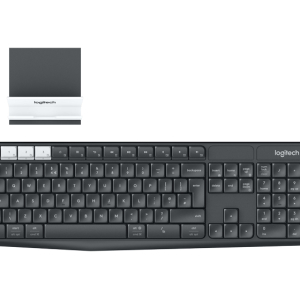 Клавиатура Logitech K375s, Bluetooth, Multi-Device (Windows, Mac, Android, iOS), Black