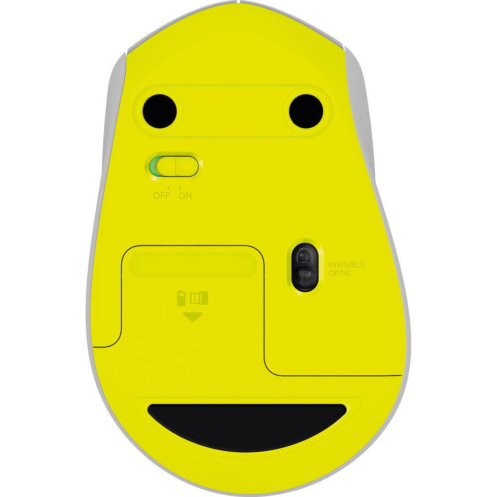 Мышь Logitech M330 Silent Plus, беспроводная, Gray/Yellow