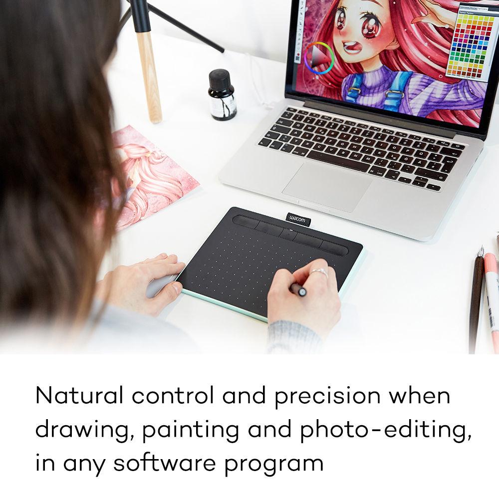 Цифровой графический планшет Wacom Intuos Small CTL-4100, A6, USB, 4096 Pressure Levels, Black+Wacom...