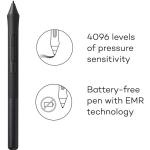 Цифровой графический планшет Wacom Intuos Small CTL4100WLK0, A6, USB, Bluetooth, 4096 Pressure Level...