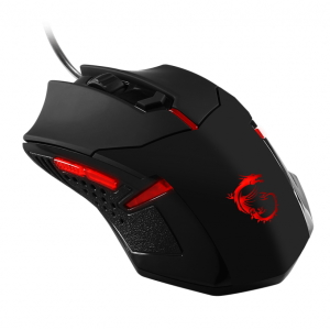 Мышь MSI Interceptor B1 GAMING USB, Black